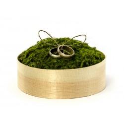 Medinė žiedų pagalvėlė su...